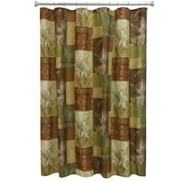Bacova Pinecone Silhouette Shower Curtain