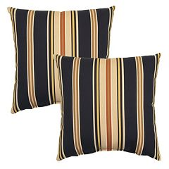Plantation Patterns 2-pack Outdoor Throw Pillow