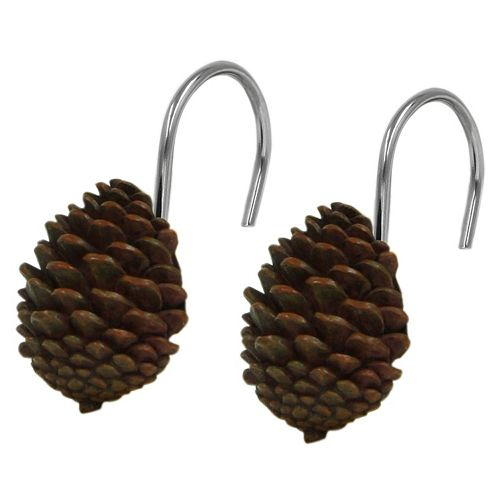 Bacova 12-pack Pinecone Silhouettes Shower Curtain Hook
