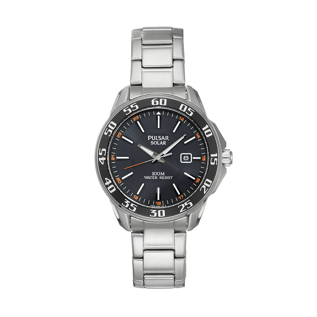 Pulsar Men's On The Go Stainless Steel Solar Watch - PX3121