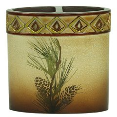 Bacova Pinecone Silhouettes Toothbrush Holder