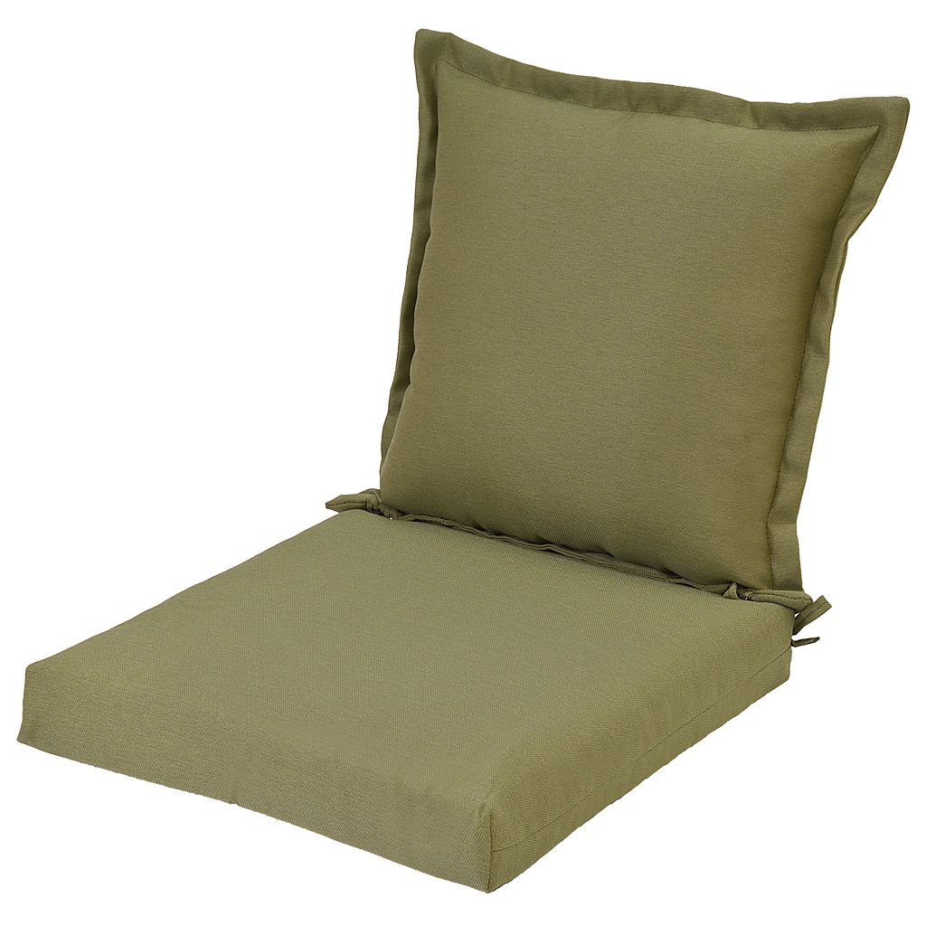 Plantation Patterns Outdoor Pillowback Dining Chair Cushion