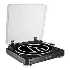 Audio-Technica Fully Automatic Wireless Belt-Drive Stereo Turntable (AT-LP60BK-BT)