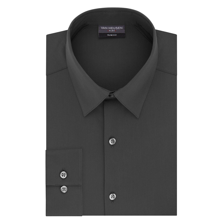 Van Heusen Mens Dress Shirt Regular Fit Flex 3 Dress Shirt
