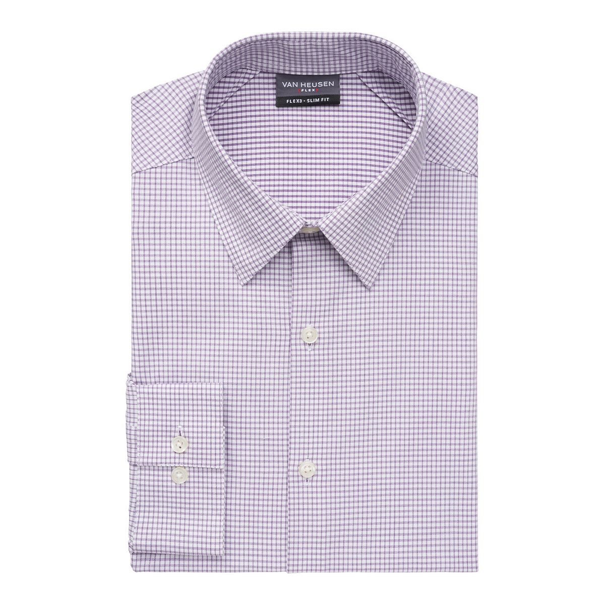 .30 Men's Van Heusen Slim-Fit 4-Way Stretch Flex 3 Point-Collar Dress Shirt at Kohl's!