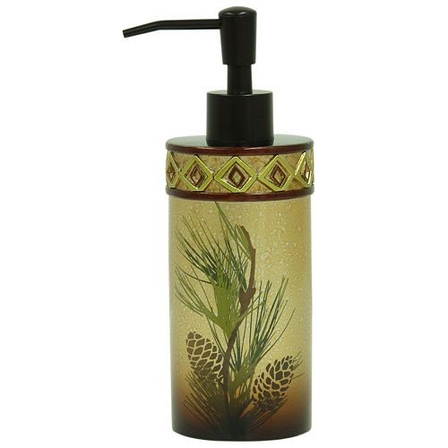 Bacova Pinecone Silhouettes Soap Dispenser