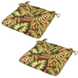 Plantation Patterns 2-pack Outdoor Seat Pad Cushion