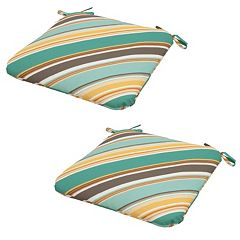 Plantation Patterns 2-pack Outdoor Seat Pad Cushion