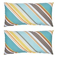 Plantation Patterns 2-pack Outdoor Lumbar Pillow