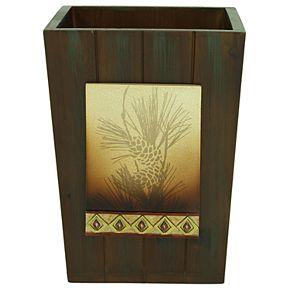 Bacova Pine Cone Silhouettes Wastebasket