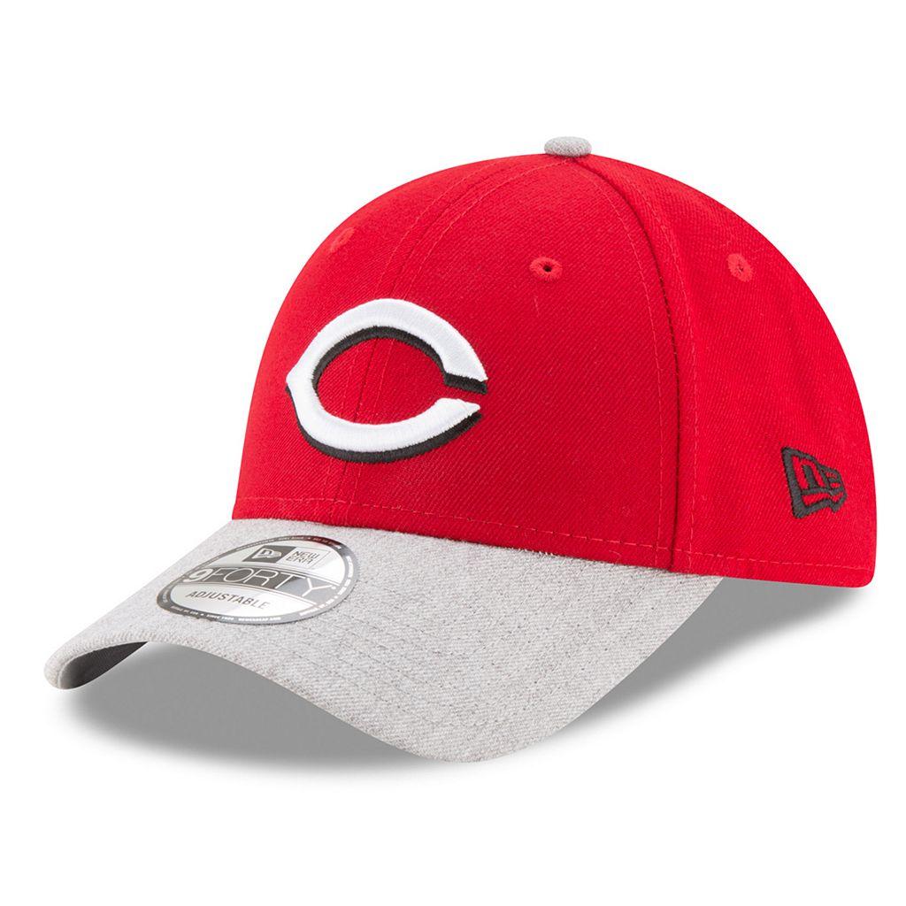 Adult New Era Cincinnati Reds 9FORTY The League Heather 2 Adjustable Cap
