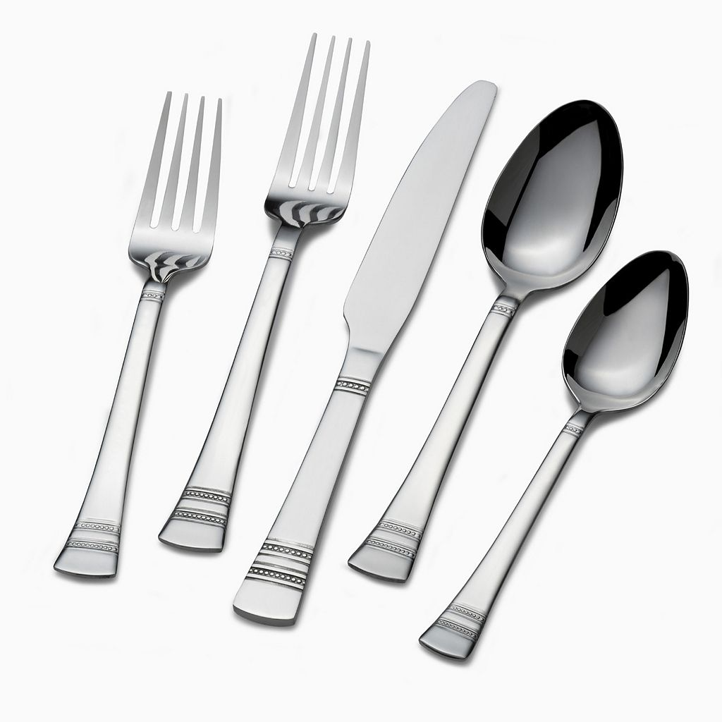Gourmet Basics Kensington 42-pc. Flatware Set With Caddy