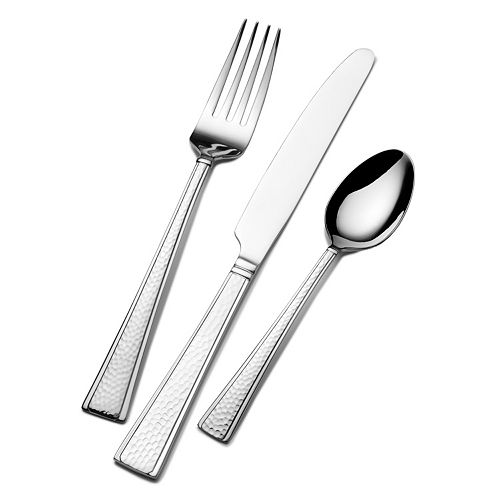 Gourmet Basics Danbury 24-pc. Flatware Set with Caddy