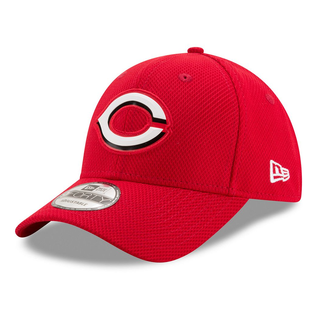 Adult New Era Cincinnati Reds 9FORTY Bevel Logo Adjustable Cap