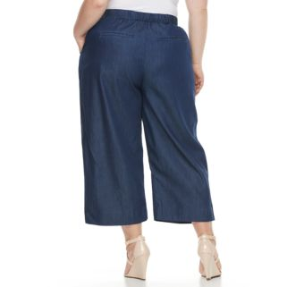Plus Size Dana Buchman Wide-Leg Capri Jeans