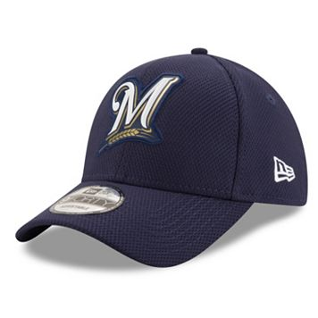 Adult New Era Milwaukee Brewers 9FORTY Bevel Logo Adjustable Cap