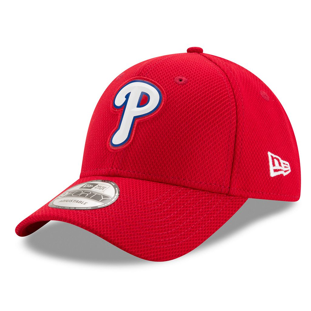 Adult New Era Philadelphia Phillies 9FORTY Bevel Logo Adjustable Cap