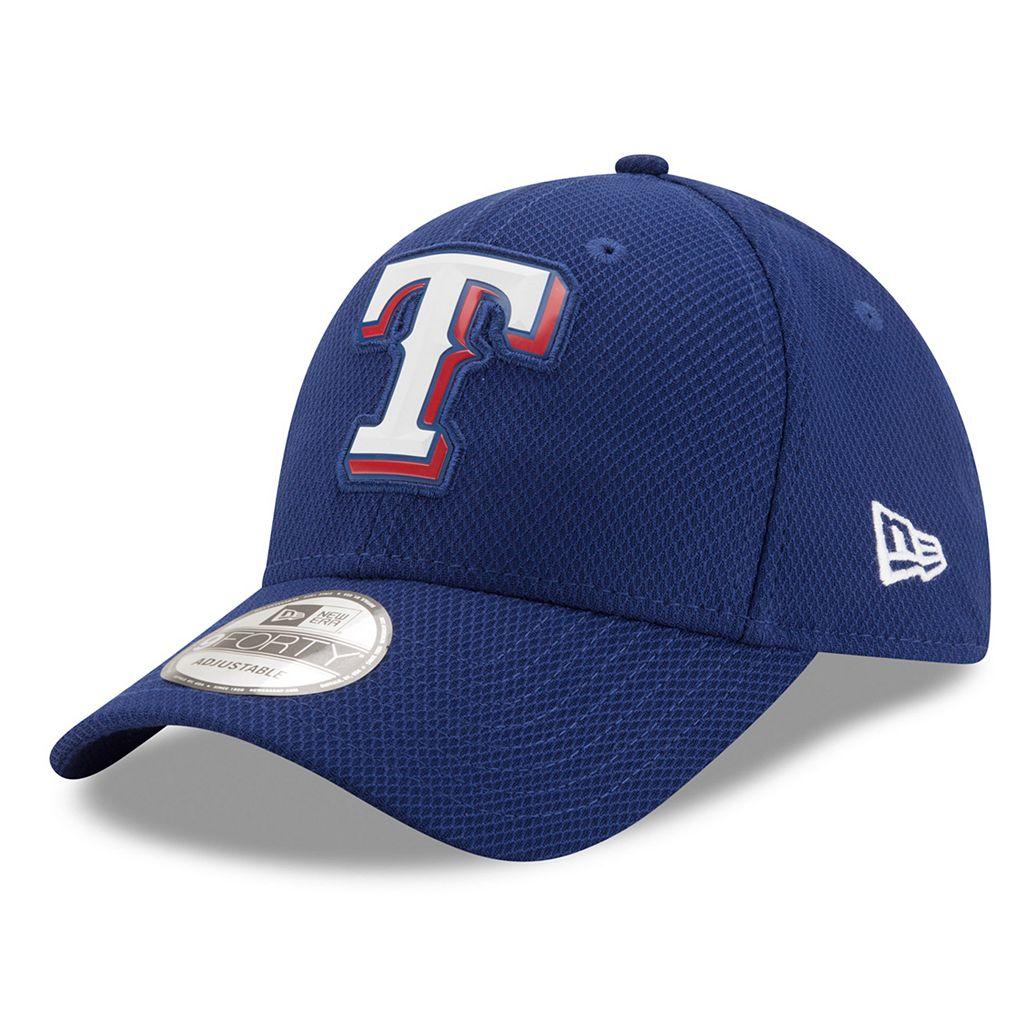 Adult New Era Texas Rangers 9FORTY Bevel Logo Adjustable Cap