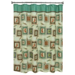 Bacova Southwest Boots Shower Curtain