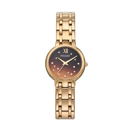 Pulsar Women's Crystal Stainless Steel Watch