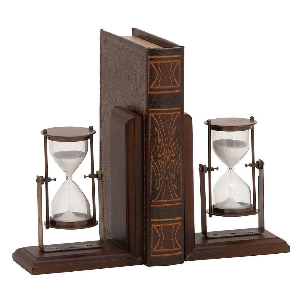 Hourglass Bookends 2-piece Set