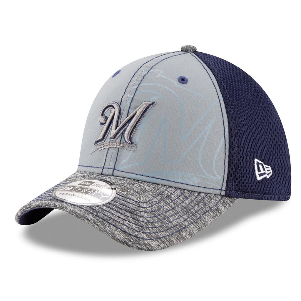 Adult New Era Milwaukee Brewers 39THIRTY Shadow Reflect Flex-Fit Cap