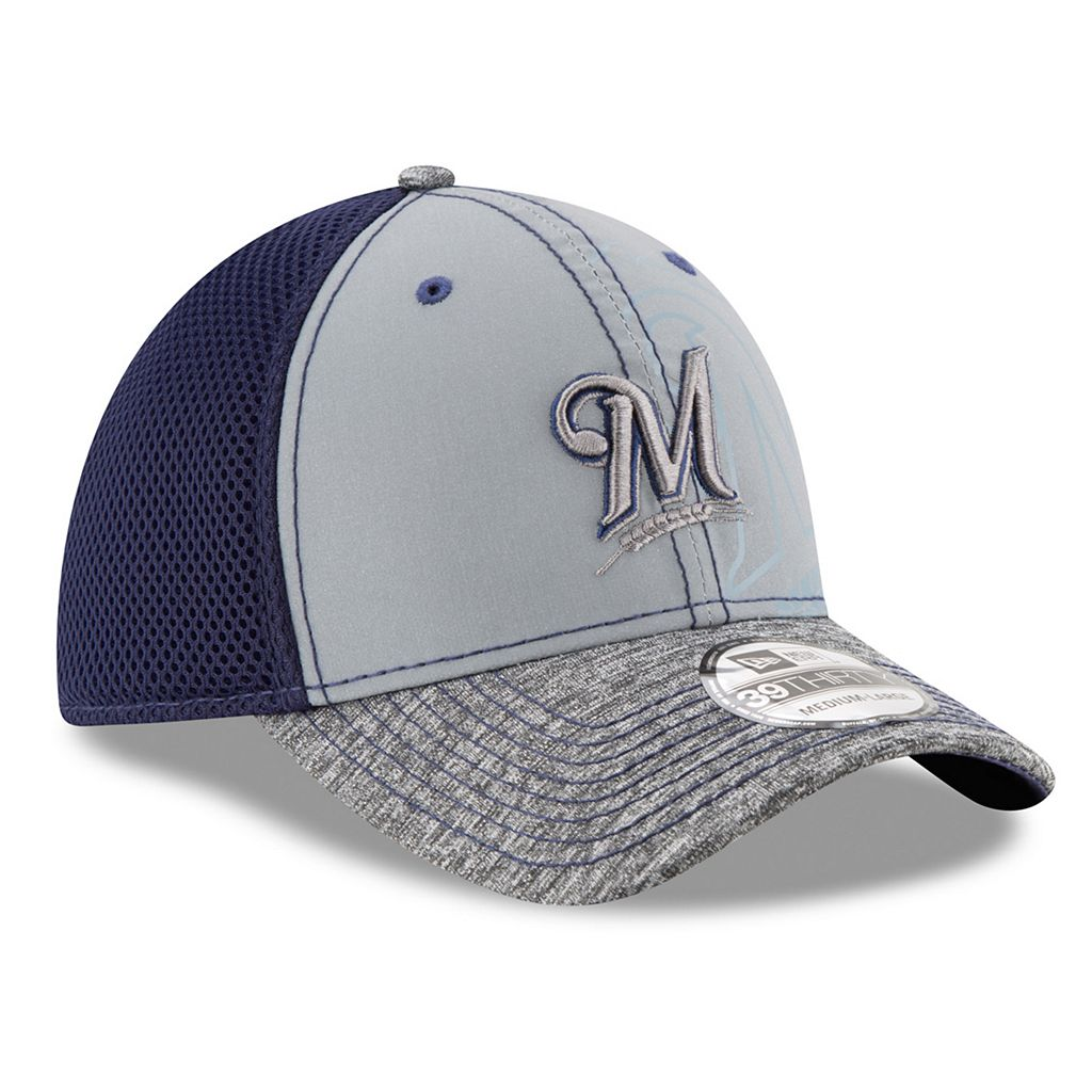Adult New Era Milwaukee Brewers 39THIRTY Shadow Reflect Flex-Fit Cap