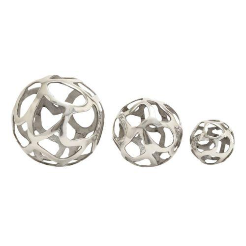 Aluminum Ball Table Decor 3-piece Set