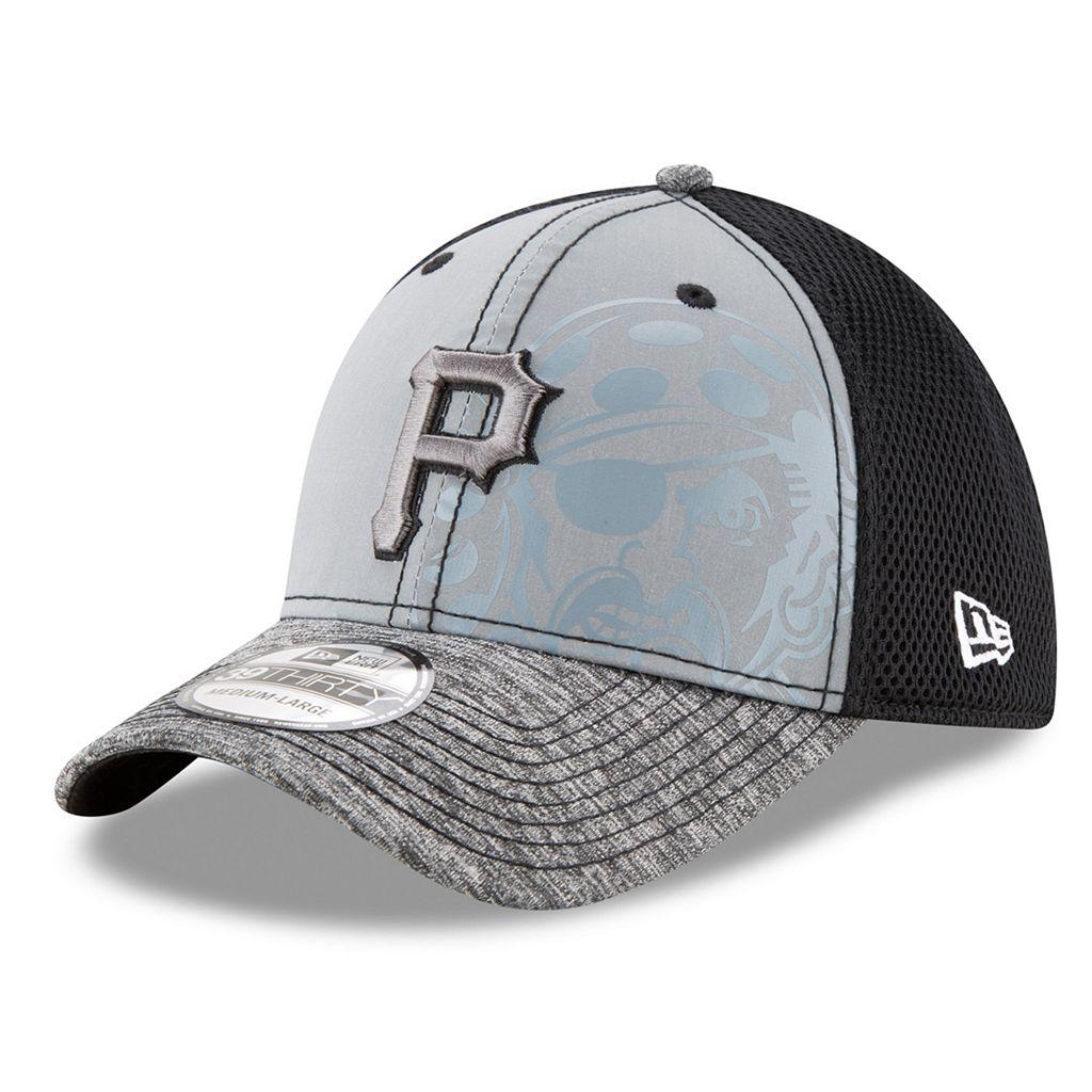 Adult New Era Pittsburgh Pirates 39THIRTY Shadow Reflect Flex-Fit Cap