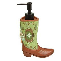 Bacova Southwest Boots Soap Dispenser