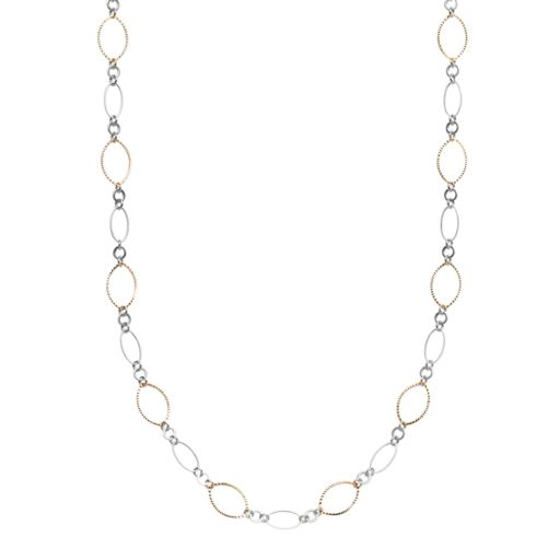 Marquise Link Long Necklace