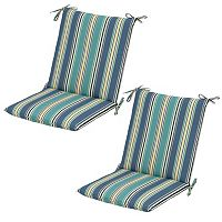 Plantation Patterns 2-pack Outdoor Mid-Back Dining Chair Cushion
