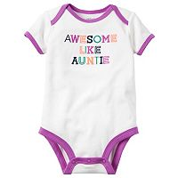 Baby Girl Carter's Embroidered Family Slogan Bodysuit