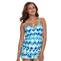 Pink Envelope Maternity Abstract Tankini Swim Set