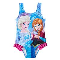 Disney's Frozen Anna & Elsa Toddler Girl Ruffle One-Piece Swimsuit