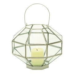 Geometric Glass Lantern Table Decor