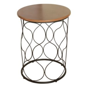 HomePop Metal Lattice Round End Table