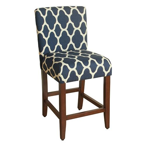 HomePop Upholstered Armless Counter Stool