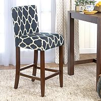 HomePop Upholstered Armless Bar Stool