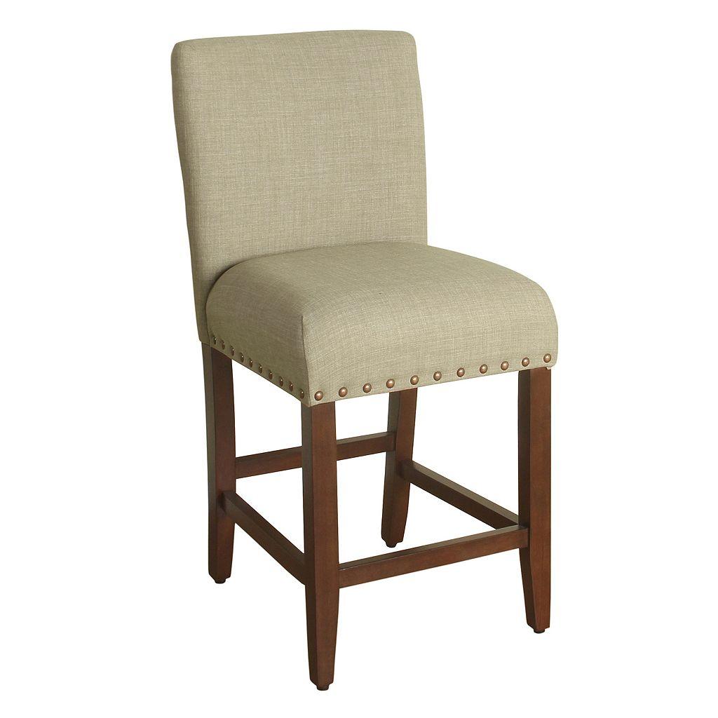 HomePop Upholstered Nailhead Counter Stool