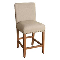 HomePop Upholstered Nailhead Counter Stool