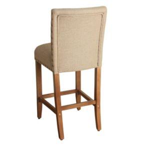 HomePop Upholstered Nailhead Bar Stool