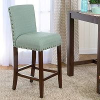 HomePop Upholstered Nailhead Bar Stool