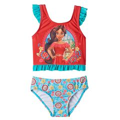 Disney's Elena of Avalor Toddler Girl Ruffle Tankini Top & Swimsuit Bottoms Set