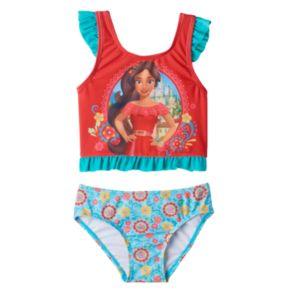 Disney's Elena of Avalor Toddler Girl Ruffle Tankini Top & Swimsuit Bottoms Set