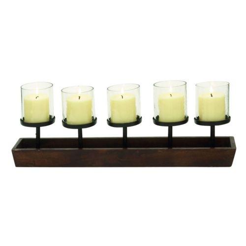 Natural Reflections 5-Light Pedestal Candle Holder