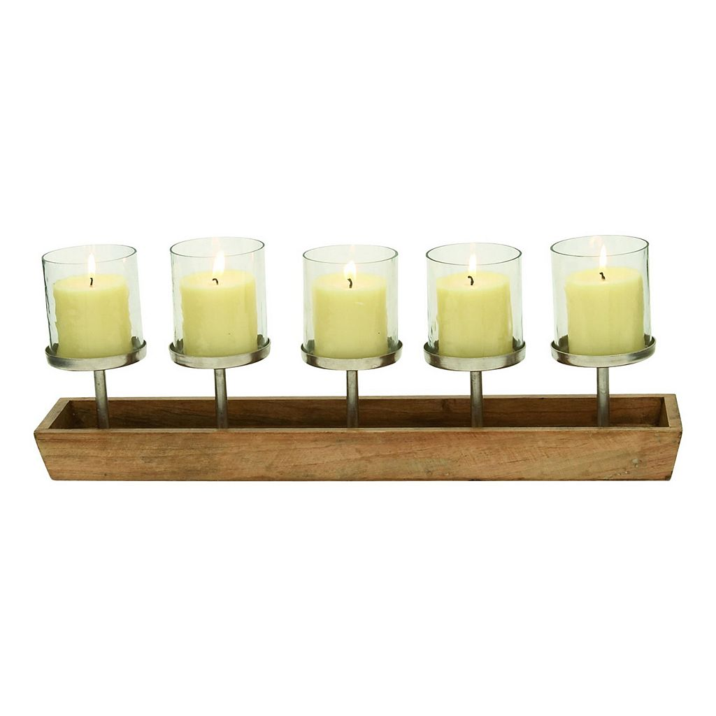 Natural Reflections 5-Light Pedestal Candle Holder