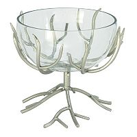 Metal Branch Glass Bowl Table Decor
