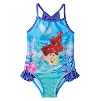 Disney's The Little Mermaid Ariel & Flounder Toddler Girl Ruffle One-Piece Swimsuit