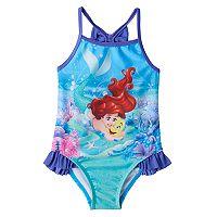Disney's The Little Mermaid Ariel & Flounder Toddler Girl Ruffle One-Piece Swimsuit
